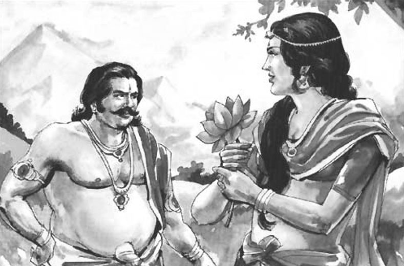 Bhima gave lotus to draupadi